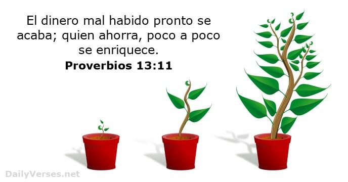 proverbios-13-11 - tema 2 - ENERGIA - dinero -